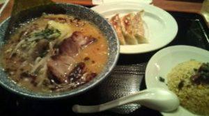 番家ラーメン+ミニ丼(チャーハン)+焼き餃子