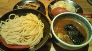 つけ麺(中もり)と半チャーハンと餃子