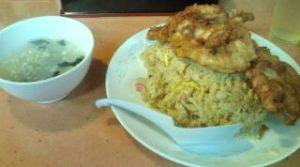 チキンチャーハン、スープ